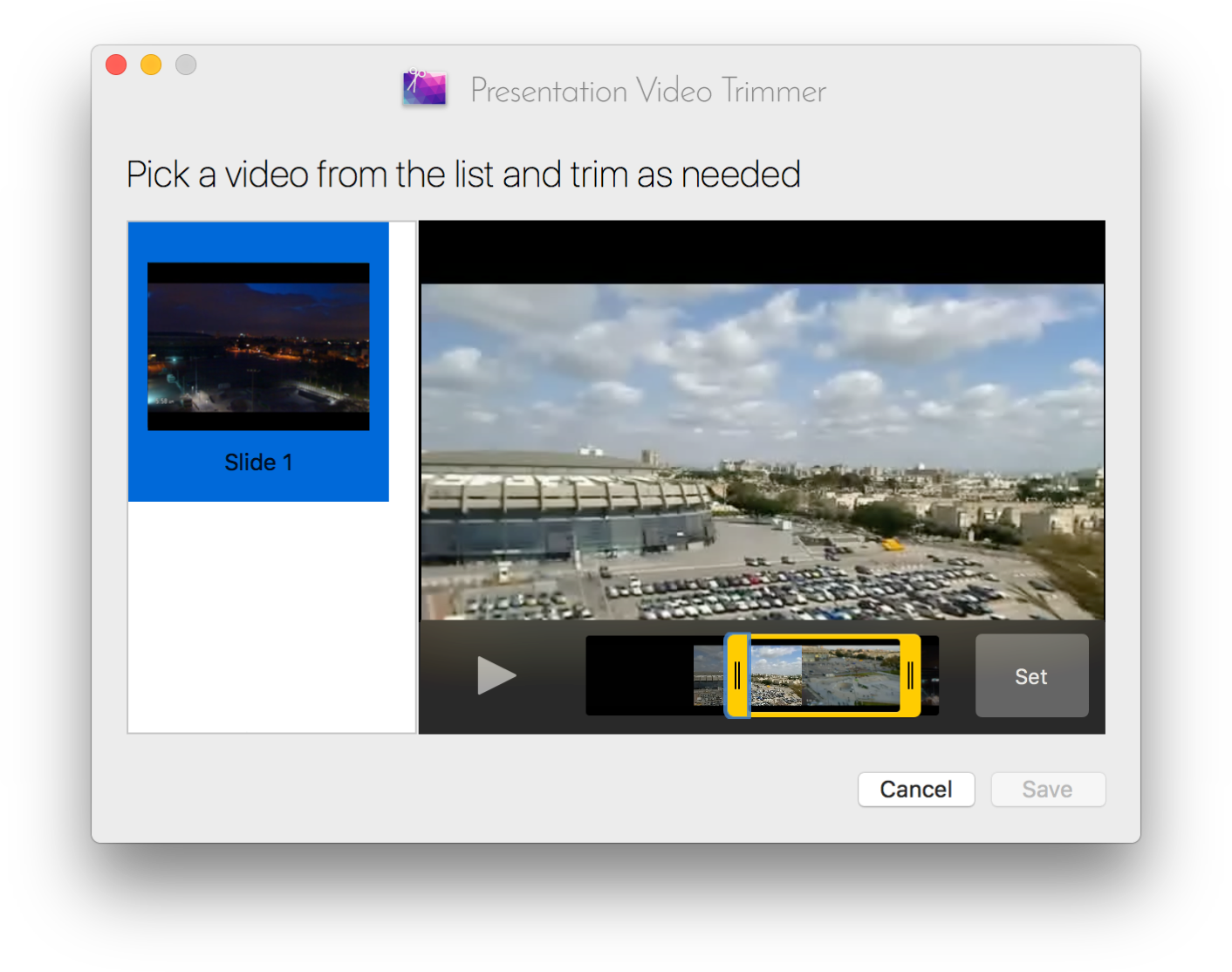 Presentation Video Trimmer screenshot