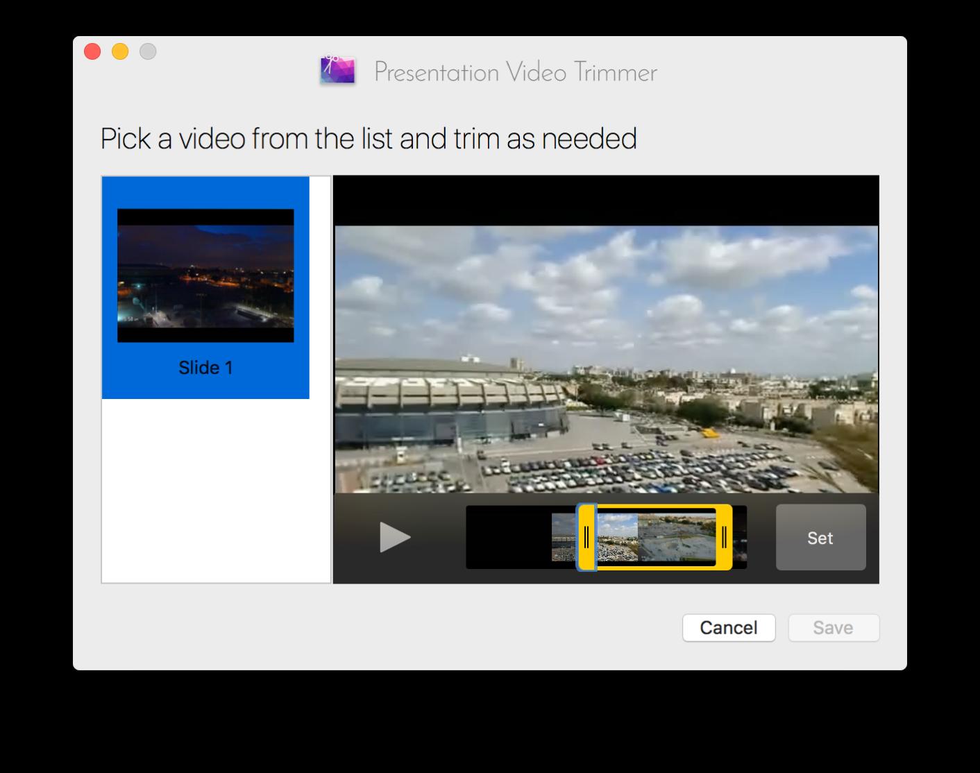 Presentation Video Trimmer screenshot